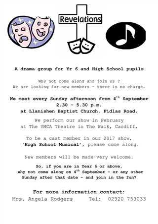 Established Youth Drama Group - New Members Welcome! Starts